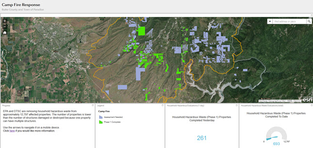 Camp Fire Response Public Dashboard