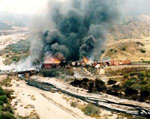 Train Fire Releases Hazardous Waste