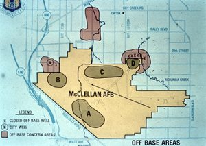 McClellan AFB Map