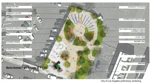 City of Los Angeles Preliminary Park Rendering Nevin Avenue