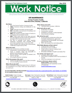 Work Notice Sheet