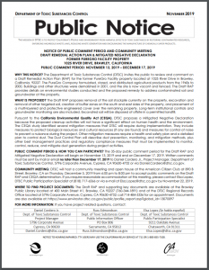 Preview of Public Notice Document