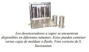 Los desenceradores a vapor se encuentran disponibles en diferentes tamanos. Estos pueden contener varias cajas de moldear o flasks. Foto cortesía de S. Sassounian.