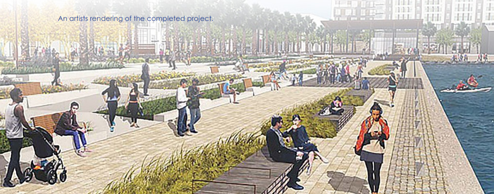 An artists rendering of the completed project.